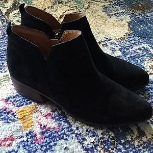 Franco Sarto Black suede ankle boots 8.5